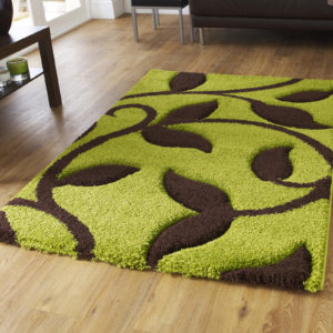 Green and brown Fashion Rug