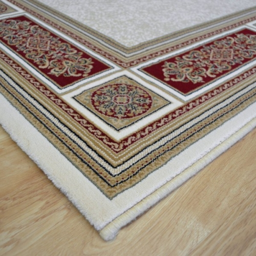 Red and cream rugs rugs ideas for Cream and red rugs