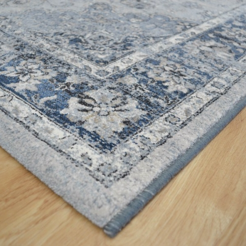 Diamond Basic Porcelain Blue Persian Style Wool Area Rug: Da Vinci Rugs 57557-9686 Blue