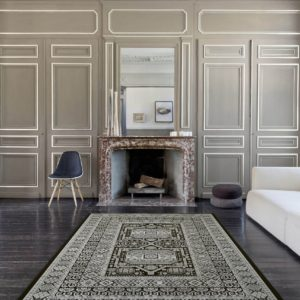 Da Vinci Black Traditional Rugs 57147-3636