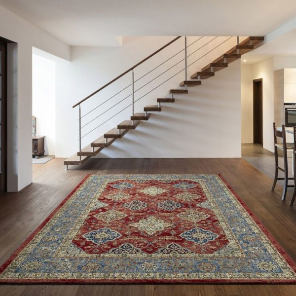 Da Vinci red traditional Rugs 57163-1454