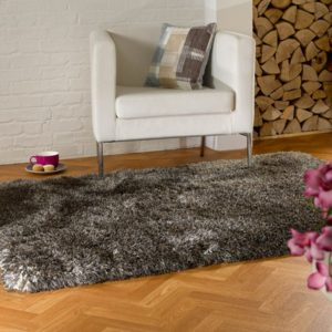 Pearl Brown Shaggy Rug