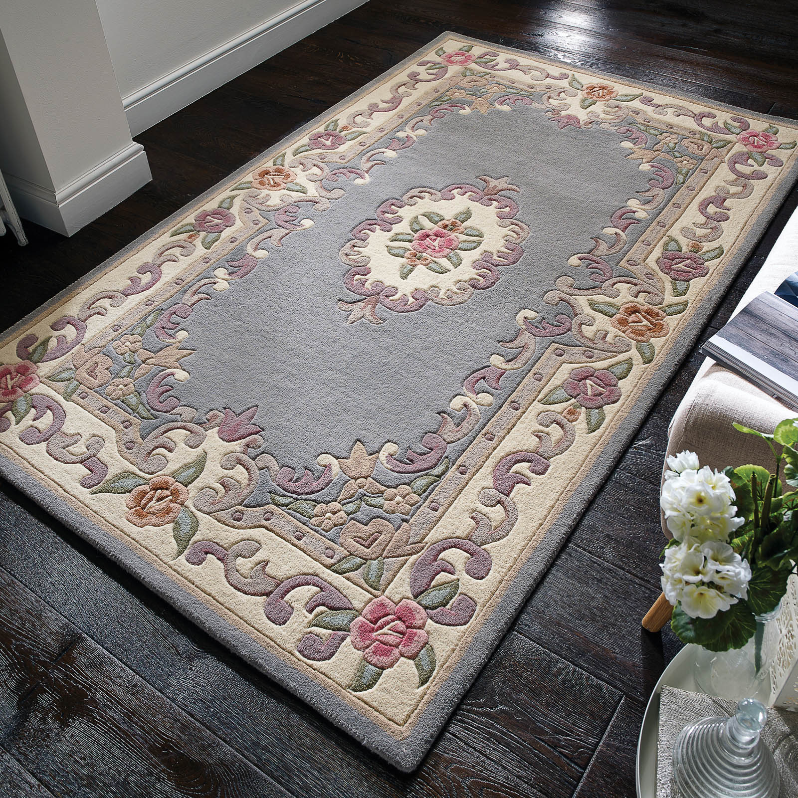 Aubusson Grey Rug Cheap Rugs World Rugs Emporium