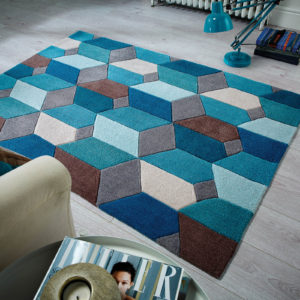 Infinite Scope Teal Rug