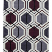 Creamed Dark Purple Hong Kong Rug