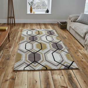 Beige and Yellow Hong Kong Rug