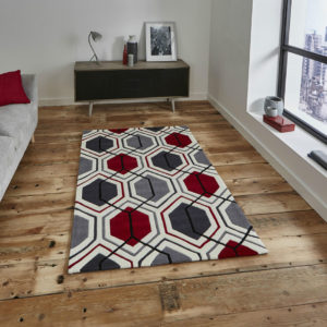Hong Kong Rug 7526 Cream:Red