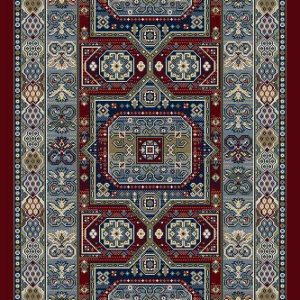 Da Vinci Red Traditional Rugs 57147-1454 runner