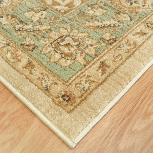 Medina rug 7709 cream green cheap rugs world rugs emporium for Green and cream rugs