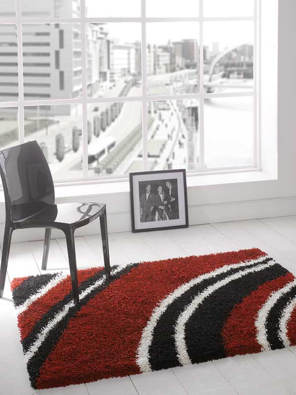Nordic Crescent Red Rug
