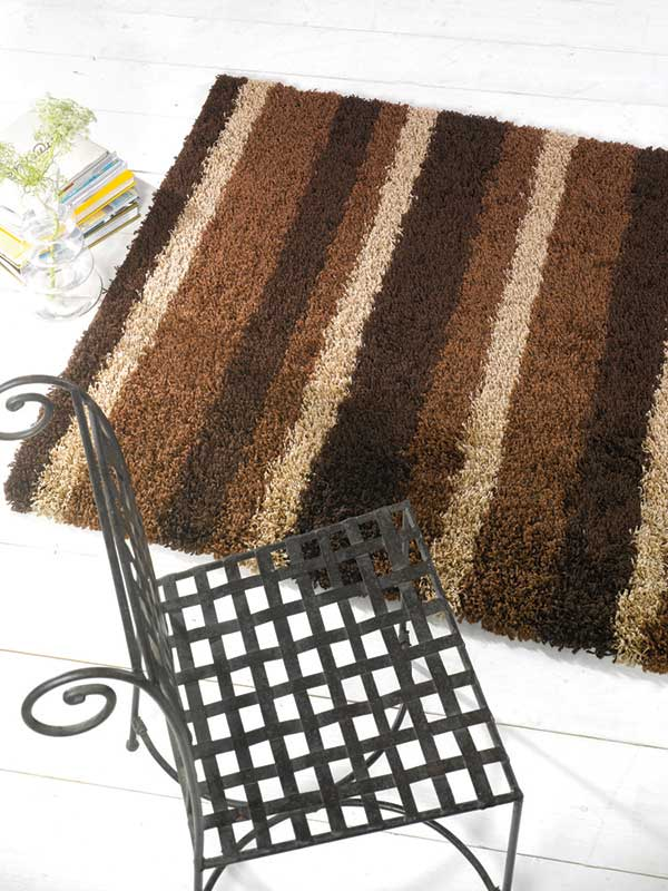 Nordic Channel Chocolate Rug