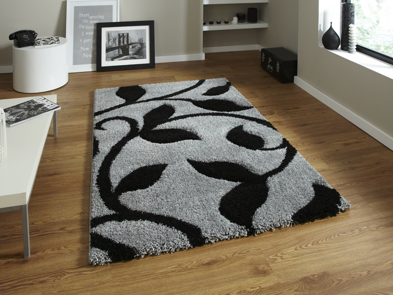 Fashion 7647 Grey/Black Rug