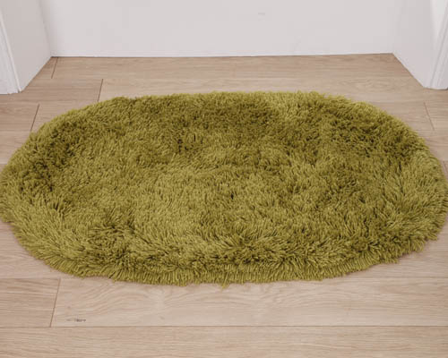 Machine Washable Rug Green