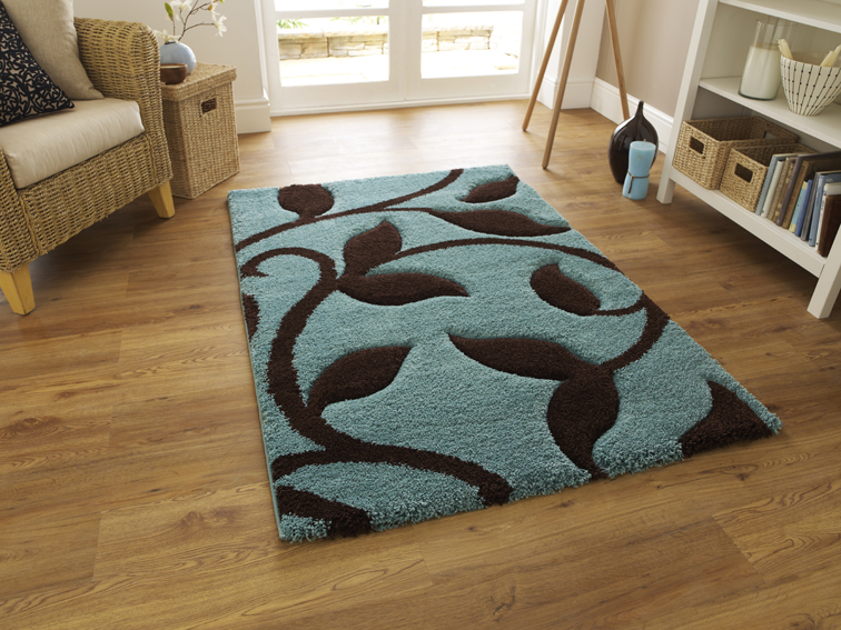 Fashion 7647 Blue/Brown Rug